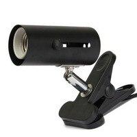 E27 Crawler Lamp Holder Lamp Holder with Clip Ceramic Heat UV UVB Bulb Lamp Holder Clip for Home Use