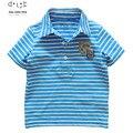 Baby boys brand T shirt kids polo shirts children T-shirts stripe short sleeve clothing 3-9yrs boy tees high quality