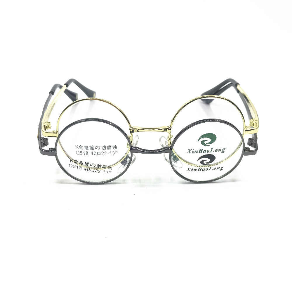 1aa907a2e42c5 ... Titanium Vintage 40mm small Round Full Rim Eyeglass Frames Rx able  Glasses Men Women ...