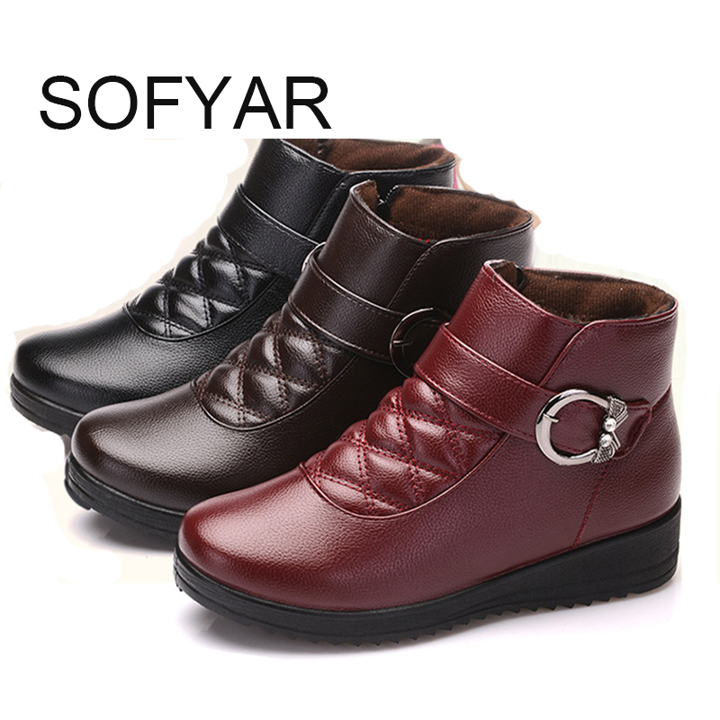 winter mother boot cotton shoes soft bottom anti slip old women natural cotton big yard wholesale zip keep warm waterproof ankle big yards for women s shoes in the fall and winter of 2016 high thickening bottom anti slip with warm confined new fashion shoes