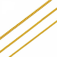 Pure 24K Yellow Gold Horsewhip Chain Necklace 999 Gold Elegant Women Necklace 3g
