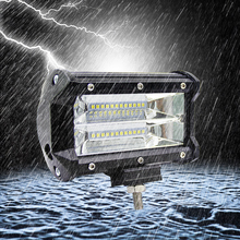 Led Work Light 12V Offroad Tractor Work Light Bar 72W 6000K with CREE LED Chip 5 inch Car LED Lamp Bulb for bmw e46 Car Sytling