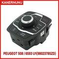 Новая Заводская навигационная кнопка  Многофункциональная Кнопка центрального управления 6593U1/98023785ZD для Peugeot 508 508sw