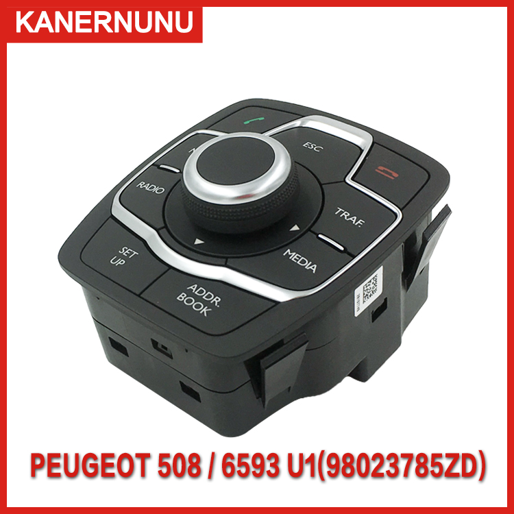New factory navigation switch Multi-function button Central control 6593U1/98023785ZD for Peugeot 508 508sw