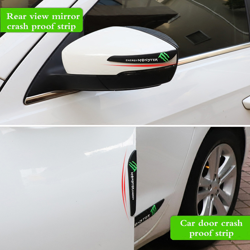 Car <font><b>accessories</b></font> rearview mirror anti-collision rubber sticker door protection anti-collision glue for <font><b>SUZUKI</b></font> vitara <font><b>swift</b></font> sx4 image