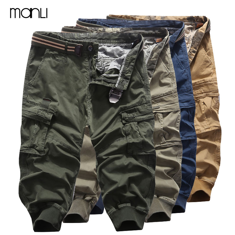 MANLI Summer Mens Tactical Military Cargo Shorts Men Outdoor Sports Army Cargo Shorts Workout Shorts Loose Casual Trousers