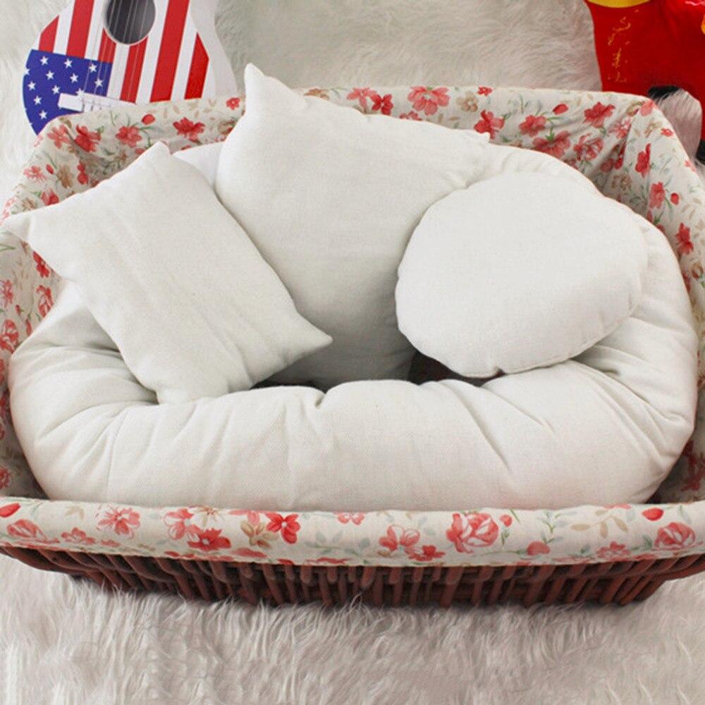 OUTAD новорожденных фотографии подушки корзина наполнитель 4 шт./компл. 2 цвета ребенка  ...