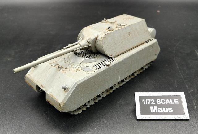 1: 72 la Segunda Guerra Mundial Alemania Rata fórmula Súper pesado tanque modelo Trompetista Modelo terminado 36606 Favoritos