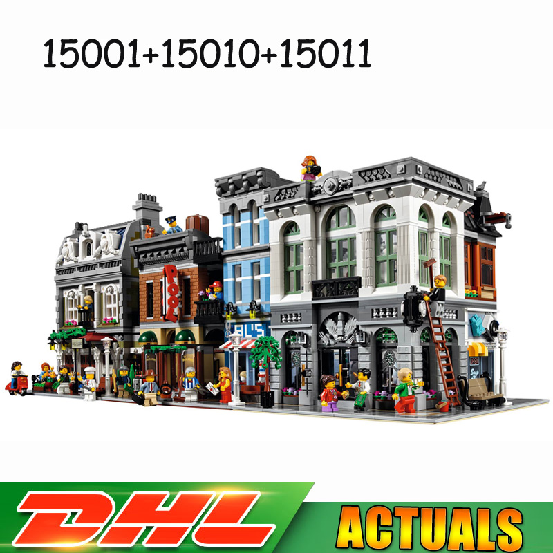 LEPIN 15001 Brick Bank +15010 Parisian Restaurant +15011 Detectives Office Blocks Brick Compatible LegoINGlys 10251 10243 10246 2018 3pcs lot dhl city town street lepin 15001 bank 15010 parisian restaurant 15011 detective s office model building kit blocks