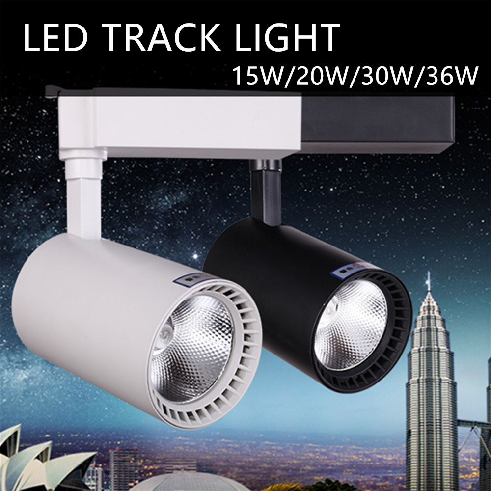 LED Track lighting cob 20w 30w 36w Clothing Shop Windows Showrooms Exhibition Spotlight COB LED Ceiling Rail Spot Lamp