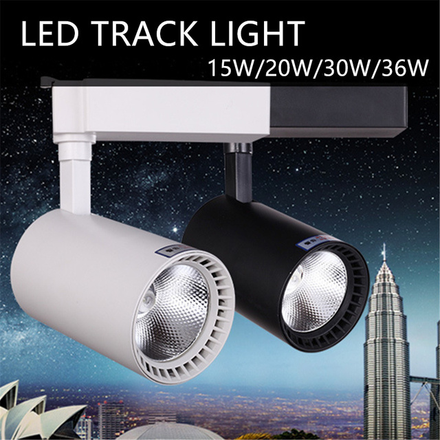 Led track light track lighting cob 15w 20w 30w 36w clothing shop led track light track lighting cob 15w 20w 30w 36w clothing shop windows showroom exhibition spotlight aloadofball Images
