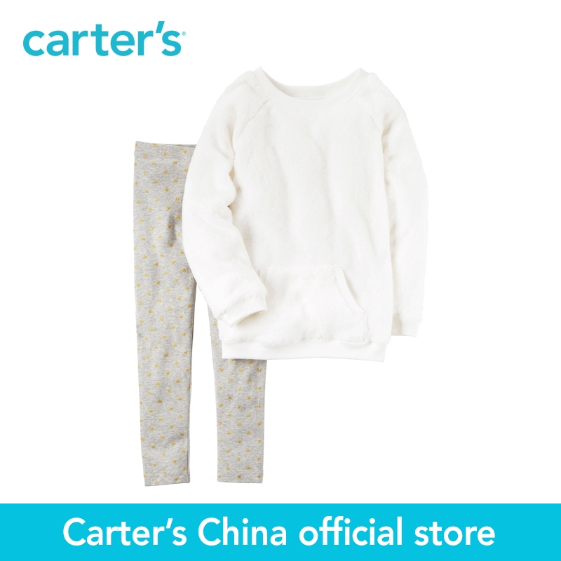 Carter's 2pcs baby children kids sherpa top & legging set 279G054,sold by Carter's China official store carter s 1 pcs baby children kids long sleeve embroidered lace tee 253g688 sold by carter s china official store