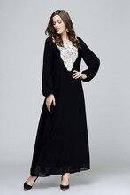Plus Size Long Sleeve Chiffon Fall Indian Embroidery Ethnic Maxi Women Dress Clothing Robe Kaftan 6XL