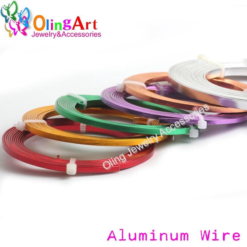 OLINGART 2017 new 10mLot  5X1mm Flat Aluminum wire crafts materials diy women earrings Bracelet choker necklace jewelry making