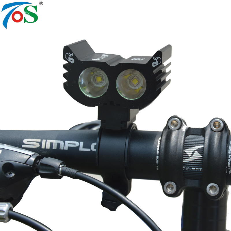 TOS Super Bright Smart Bike Light Bicycle Lamp Accessories Waterproof Flashlight  3 Modes 2 Cree XML L2/R3 Lamp Torch + Charger 3800 lumens cree xm l t6 5 modes led tactical flashlight torch waterproof lamp torch hunting flash light lantern for camping z93