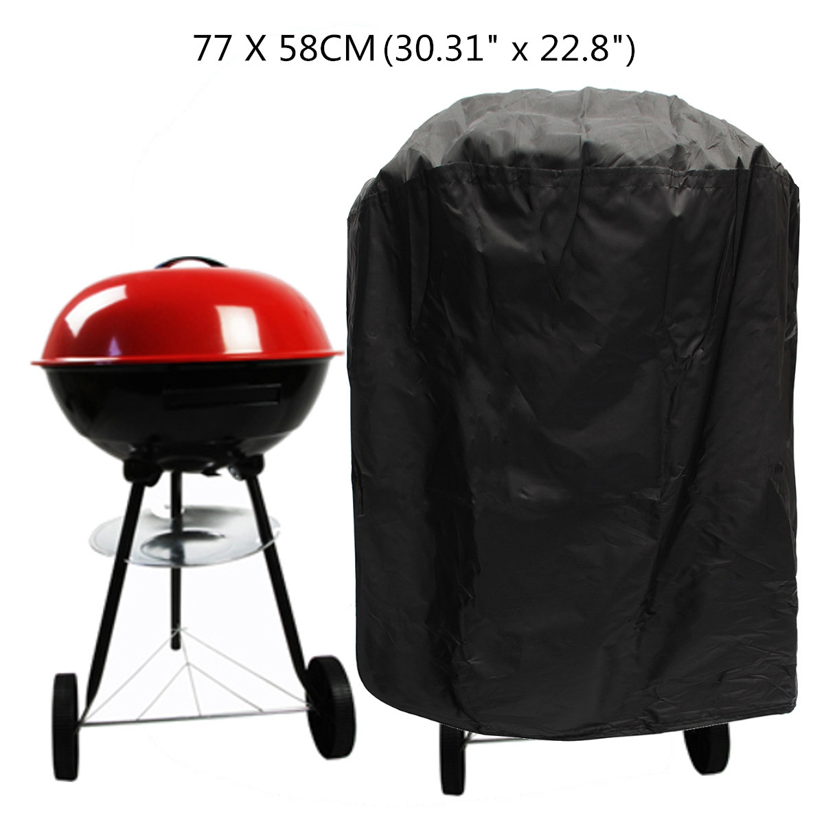 HEAVY DUTY LARGE ROUND BBQ COVER OUTDOOR WATERPROOF BARBECUE GRILL GAS