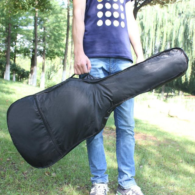 """Waterproof Black Oxford Cloth 41""""Electric Acoustic Guitar Bag Case Bass Carry Shoulder Strap Musical Instrument Accessories 1"""