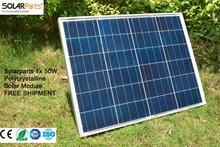 Solarparts 1x 50W Polycrystalline Solar Module by Poly solar cell factory cheap selling 12V solar panel