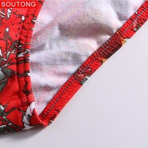 Image 5 - Soutong 4 sztuk/partia męskie majtki bielizna czysta bawełna nadruk seksowne figi męskie niskiej talii Cueca Hombre Calzoncillos Gay bielizna mężczyzn