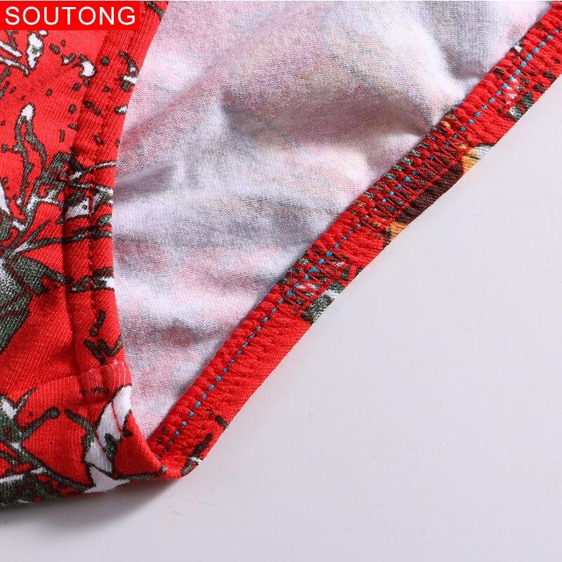 Image 5 - Soutong 4Pcs/lot Mens Briefs Underwear Pure Cotton Printed Sexy Men Briefs Low Waist Cueca Hombre Calzoncillos Gay Underwear Men-in Briefs from Underwear & Sleepwears
