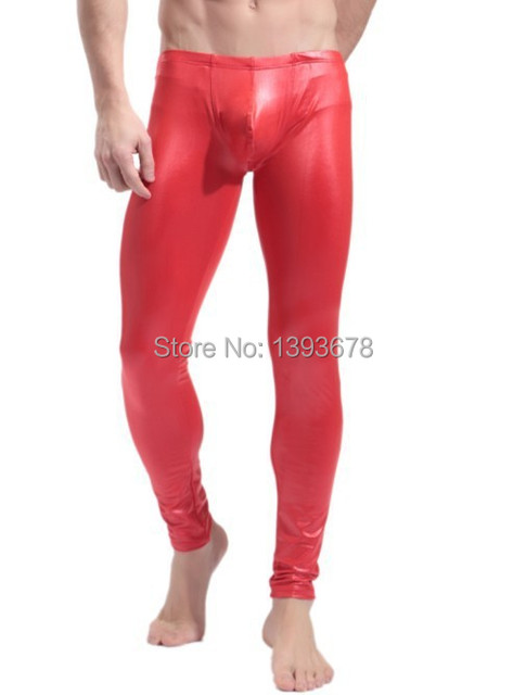 Hot!! Men's Long Pants Tight Fashion,Sexy leggings for men thermal underwear, colors(red/black)