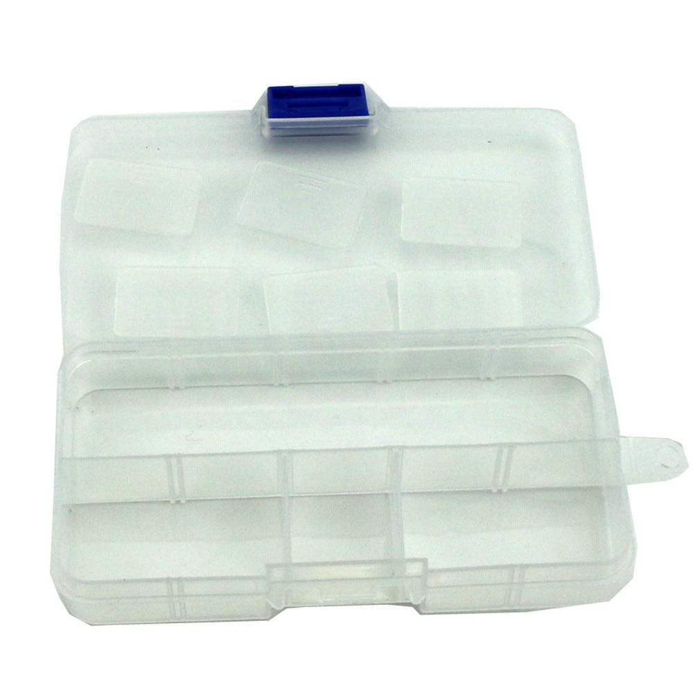 10Fishing Lure Compartments Storage Case Box Plastic Fish Lure Bait Tackle BoxKK