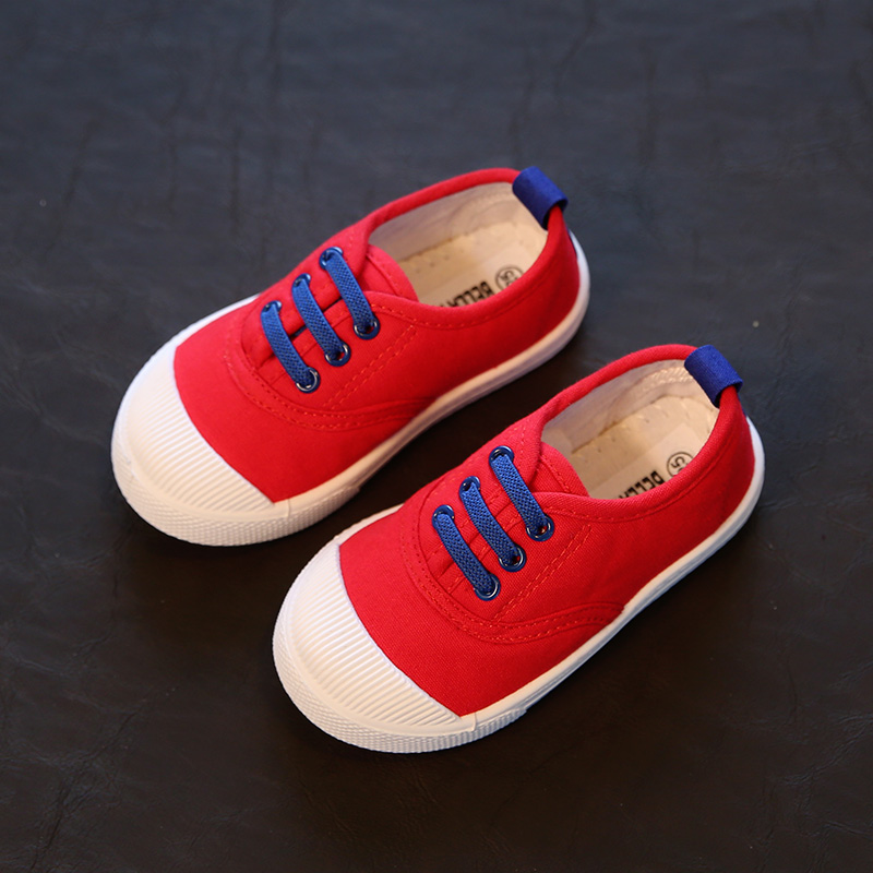 0240371a Fashion Kids canvas shoes for girls boys New Styles spring autumn Toddle  Baby sneakers kid pedal lazy sport shoes size 21-30