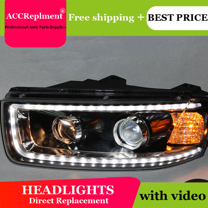 Car Styling LED Head Lamp for Chevrolet Captiva headlights 2008 2014 Captiva led headlight led drl H7 hid Bi Xenon Lens low beam