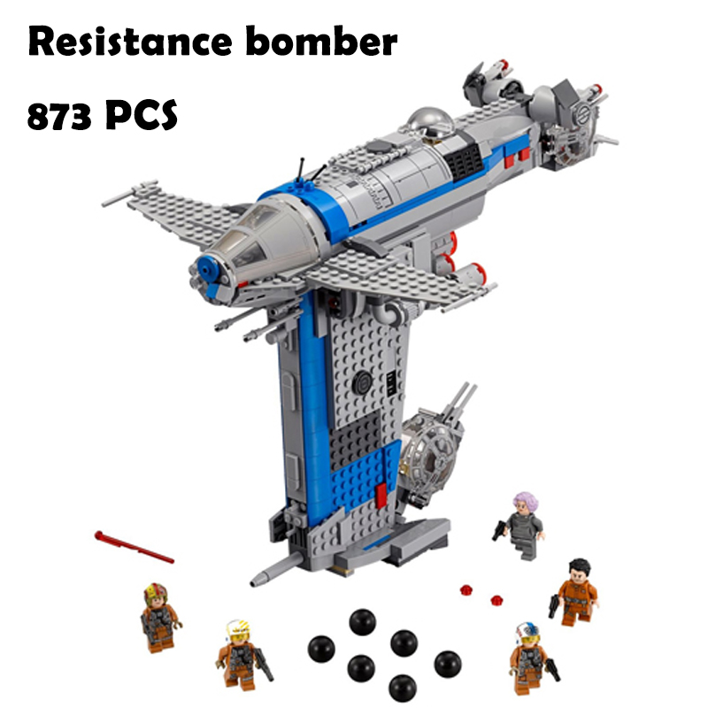 Model Building Blocks toys 873Pcs 05129 Resistance bomber compatible with lego Star wars 75188 Educational DIY toys & hobbies