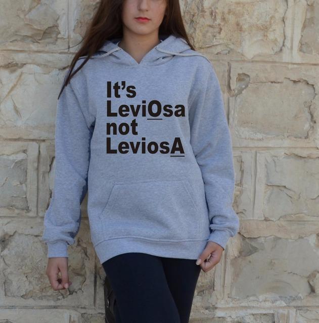It's no Leviosa Leviosa Hoodies Carta Imprimir Sudaderas Mujeres Moda Ropa de Invierno Otoño Primavera Estilo Jumper Tops
