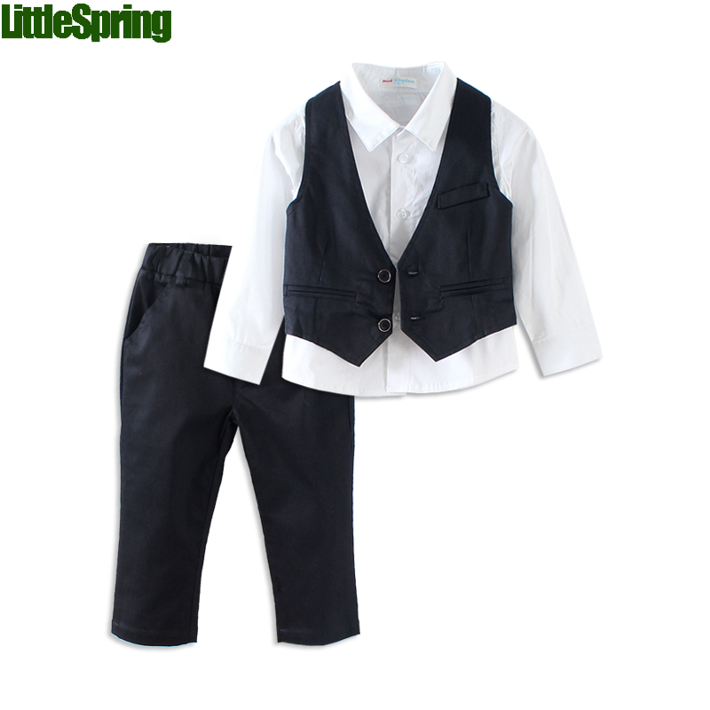 Mudkingdom boys suits weddings kids design jacket 2017 boy tuxedo suit set gentleman shirt+vest+pants wedding suit baby boy suit 2016 new arrival fashion baby boys kids blazers boy suit for weddings prom formal wine red white dress wedding boy suits