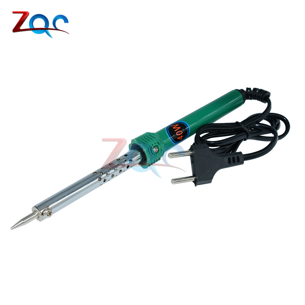 DIY 40W 220V-240V 40Watts Electric Welding Soldering Iron Tool Solder Iron Tool Fast Heat up Temperature Gun Pencil Type EU Plug