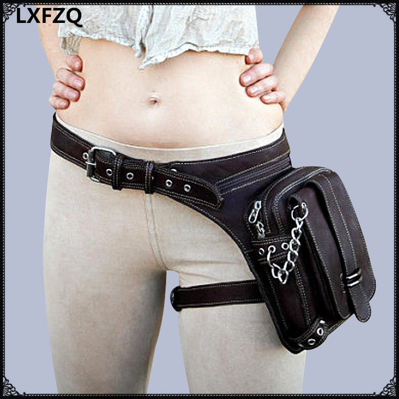 women bag Thigh Holster Protecte Purse Shoulder Backpack Purse leather carteras mujer bag Steampunk thigh Motor