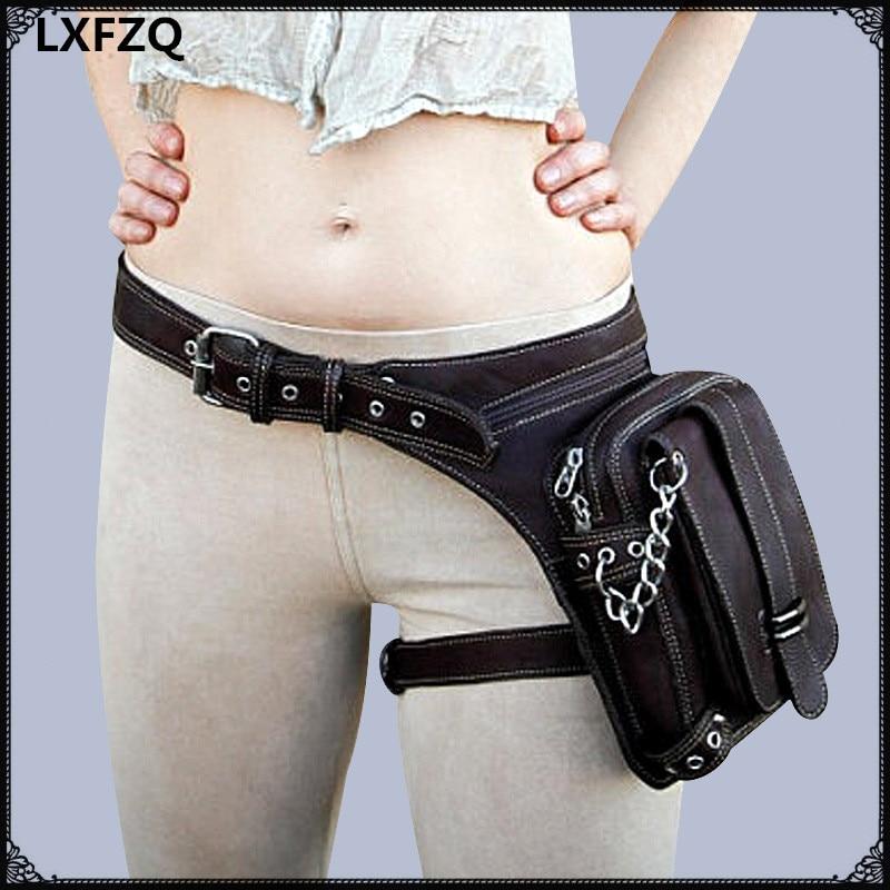 női táska combcsomag Protecte erszényes váll hátizsák erszényes bőr carteras mujer táska Steampunk comb motor láb Outlaw csomag