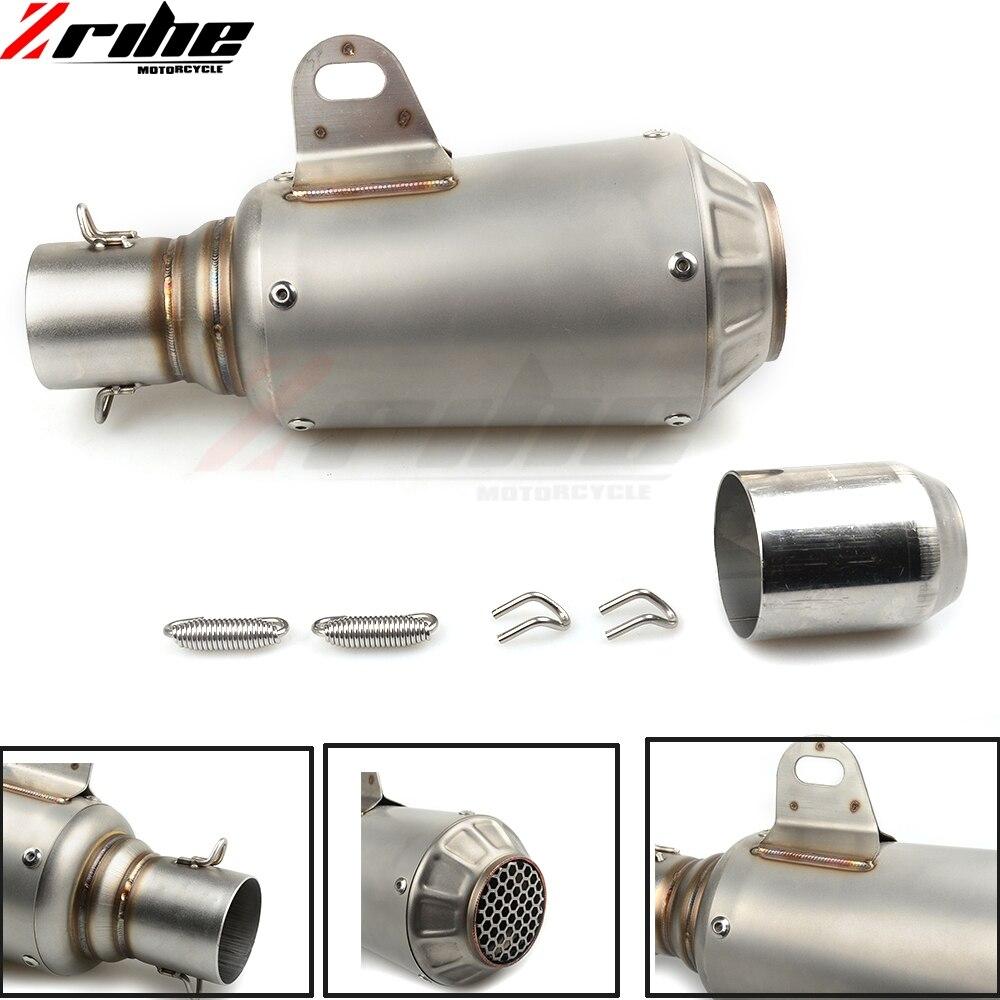 Universel 36-51mm modifié d'échappement moto silencieux tuyau d'échappement en Fiber de carbone pour Yamaha MT07 09 FZ9 09 tmax530 500 yzfr1 r3