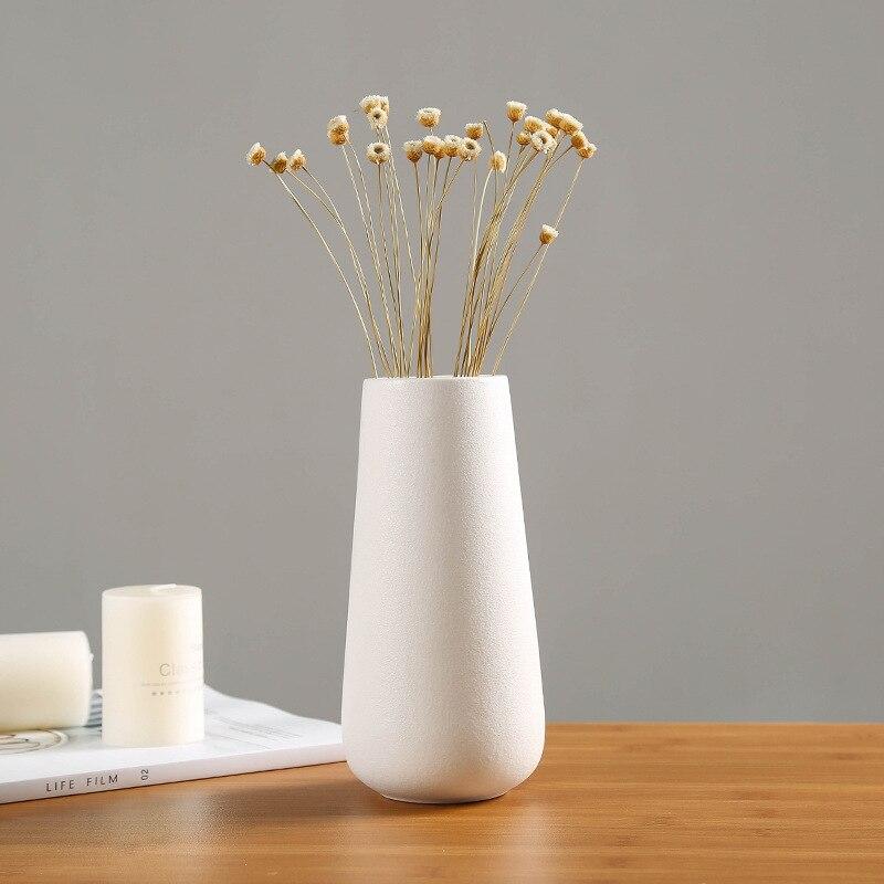 >White Minimalist Modern Nordic <font><b>Style</b></font> Ceramic Vase Three-piece Flower <font><b>Craftsman</b></font> Art <font><b>Home</b></font> Decoration Figurines & Miniatures