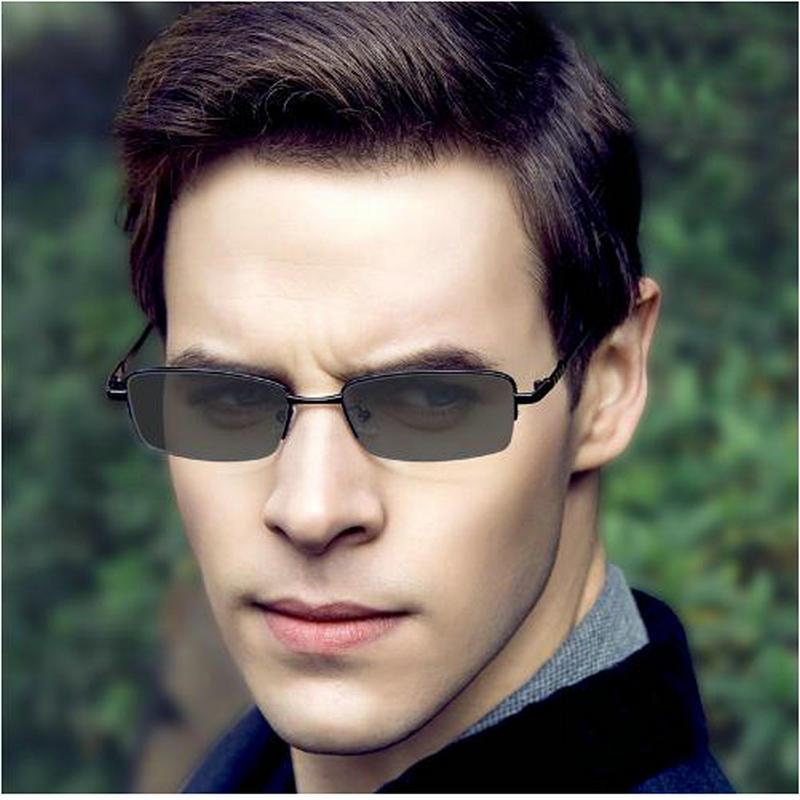 Photochromic Sunglasses HD Polarized Men And Women Color Changing Eye Mask Photochromic Sunglasses Men's Square Glasses Frame NX