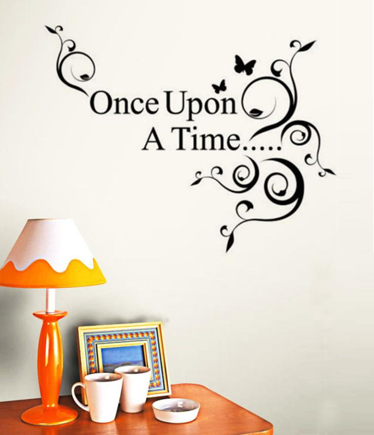 Home Decor Once Upon a Time Home Decor Wall Sticker Decal Bedroom Vinyl Art Mural wall sticker Home Deco mirror AU4