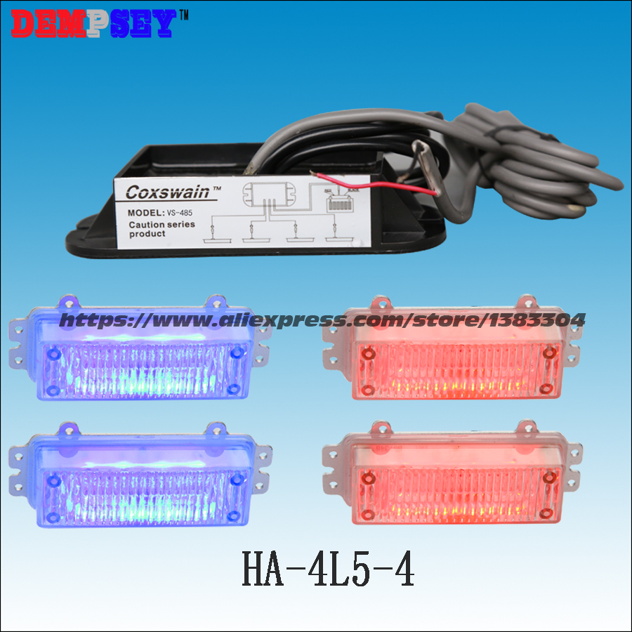 HA-4L5-4 High power red&blue Emergency 4W Warning Light,Police VehicleLED Strobe Warning Light,DC12VCar grill/4pcs head light ltd 5071 dc12v warning light emergency strobe light warning light