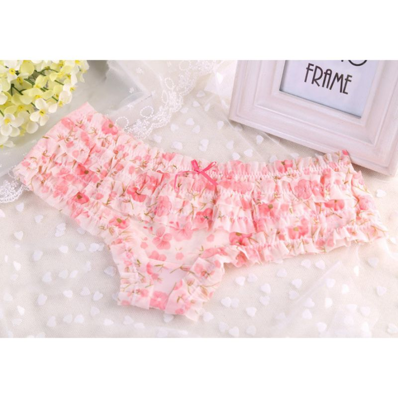 2017 Lovely Girl Women Lace <font><b>Sexy</b></font> Dot women panties <font><b>Female</b></font> Underwear Ruffles Women's Sheer Panties Butt Lifter Briefs <font><b>16</b></font> Colors image