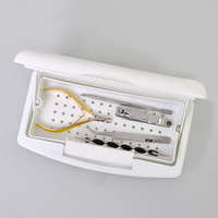 Pro Nail Sterilizer Tray Disinfection Pedicure Manicure Sterilizing Box Nail Art Sterilizer Tray Box Sterilizing Salon