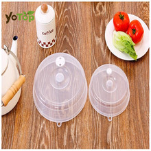 YOTOP 2Pc Transparent Sealing Cover Stacked Freezer Fresh Lid Crisper Microwave Cap Lids Refrigerator fresh Cover Sealer