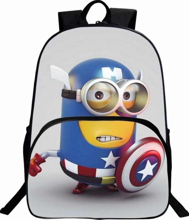 Despicable Me Minion Cute Children Cartoon School Bags