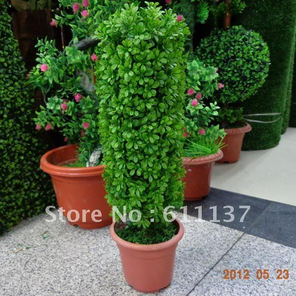 Free shipping 2X Artificial indoor outdoor plastic boxwood silk spiral topiary tree plant for christmas decoration