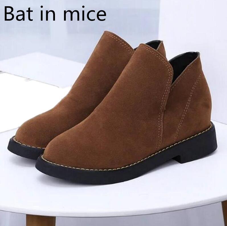 Bat in mice 2017 women PU leather Martin boots British style wind with ankle lady short plush casual boots size 35-40 short boots woman the fall of 2017 a new restoring ancient ways british wind thick boots bottom students with martin boots