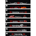 Free shipping Automobile label car stickers for TOYOTA Front windshield stickers for front window