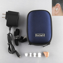New Rechargeable Digital Mini In Ear Hearing Aid Adjustable Sound Amplifier BOX Audiphone Acouophone Acousticon