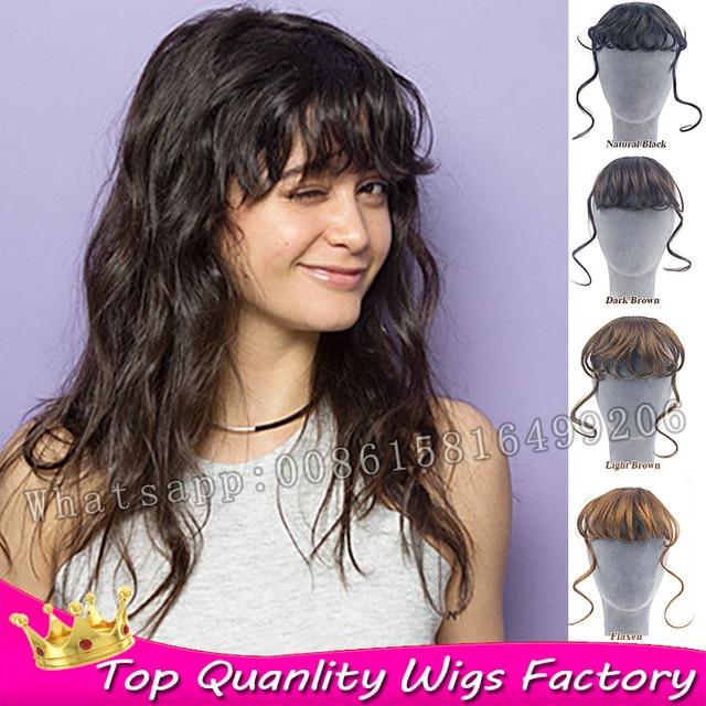 New Fashion Fake Hair Clip In Bangs Hairpiece Long Bangs Fringe Clip