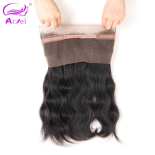Ariel Hair 360 Lace Frontal Closure Body Wave Malaysian Remy Hair 100% Human Hair Closure With Baby Hair Natural Color