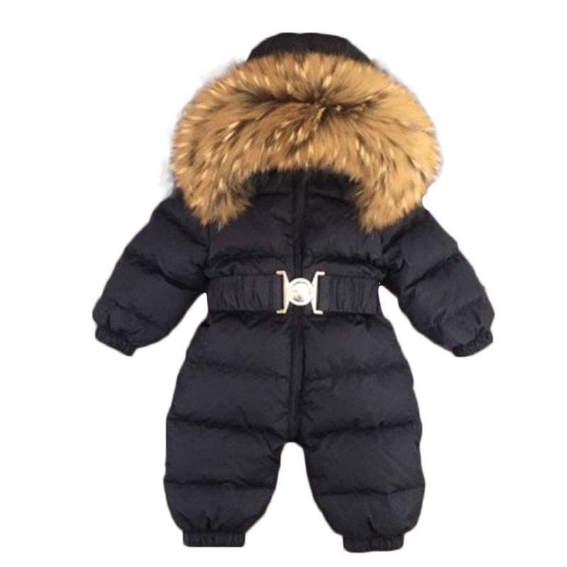 Baby Clothing christmas dress Raccoon fur collar overall clothing kids boys girls jumpsuit clothing winter down jackets 30#